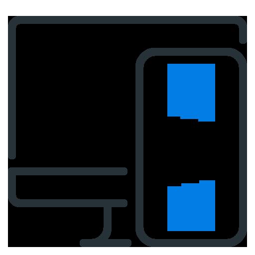 Access on mobile, tablet or desktop computer